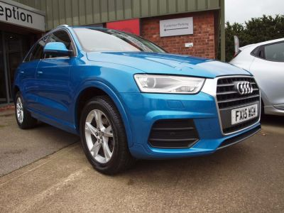 Audi Q3 1.4T FSI SE 5dr S Tronic Estate Petrol BLUE at F Troop & Son Ltd Leadenham